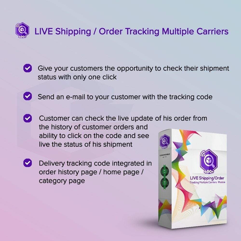 module - Suivi de livraison - LIVE Shipping/Order Tracking Multiple Carriers - 1