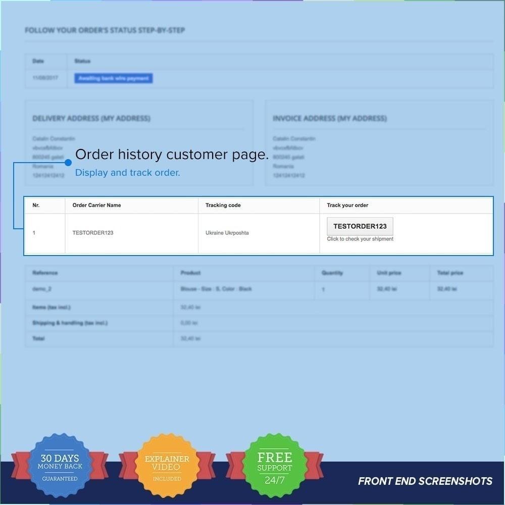 module - Tracciamento Spedizione - LIVE Shipping/Order Tracking Multiple Carriers - 4