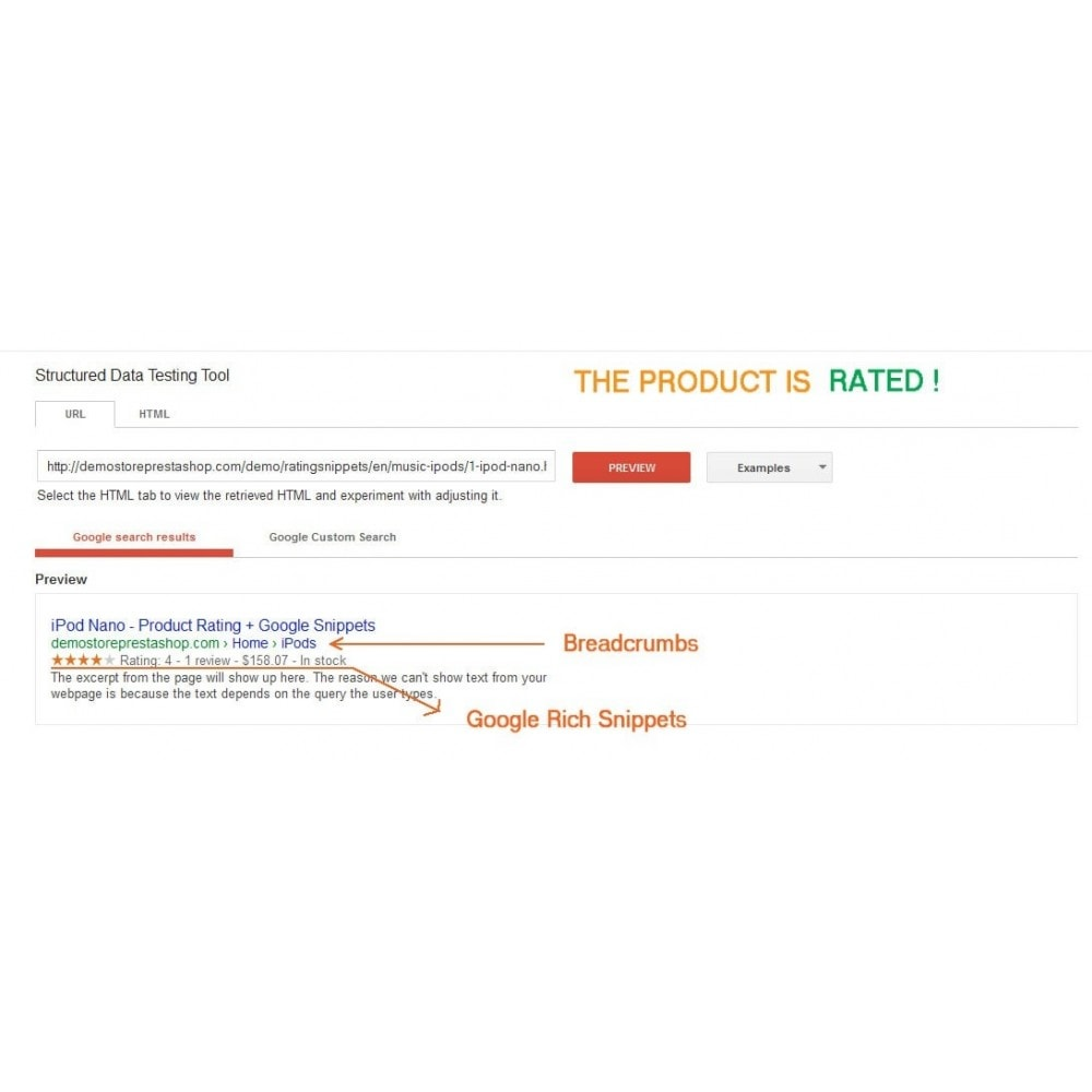 module - SEO - Product Rating + Google Snippets, Breadcrumb, Rich Pins - 2