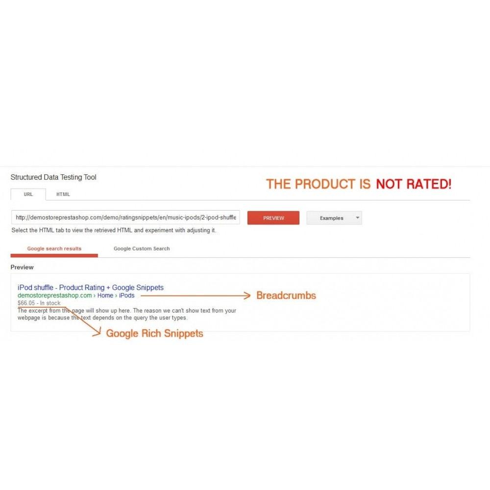 module - SEO (référencement naturel) - Note du produit + Snippets, Breadcrumb, Rich Pins - 3