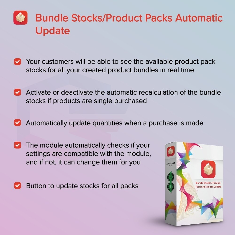 module - Ventes croisées & Packs de produits - Bundle Stocks / Product Packs Automatic Update - 1