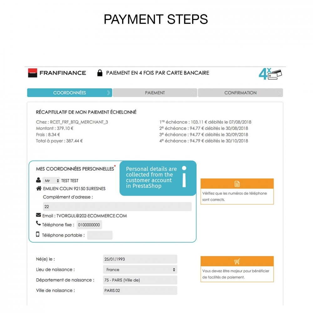 module - Payment by Card or Wallet - Payment solutions with Franfinance - 6