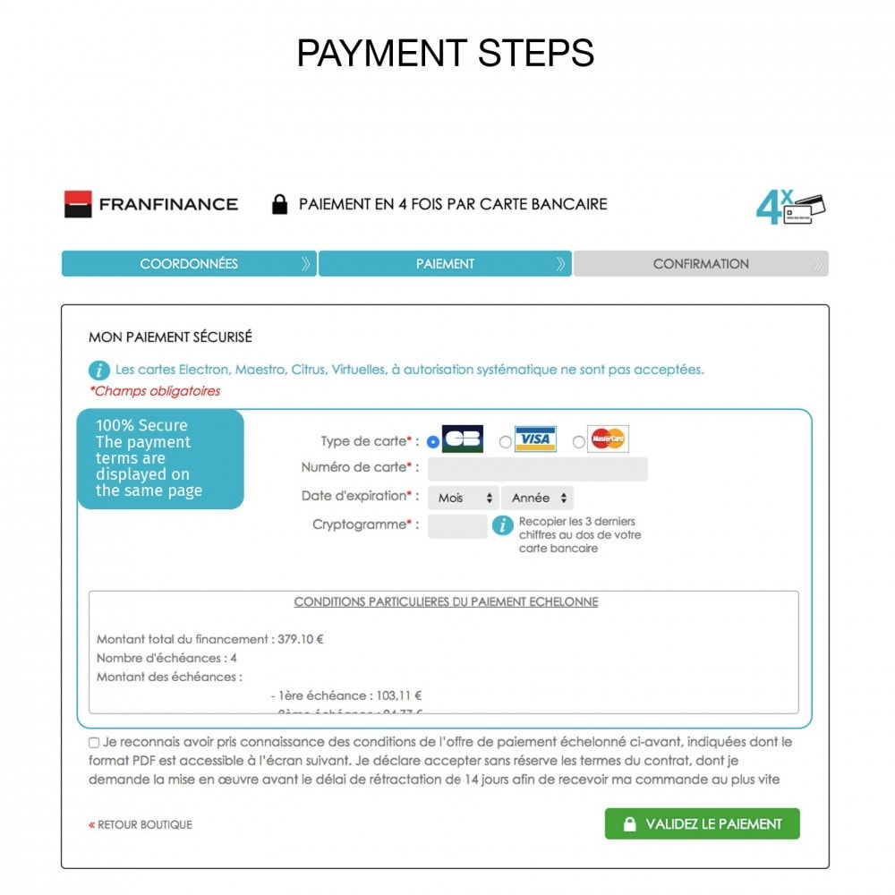 module - Payment by Card or Wallet - Payment solutions with Franfinance - 7