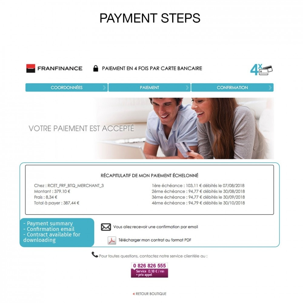 module - Payment by Card or Wallet - Payment solutions with Franfinance - 8