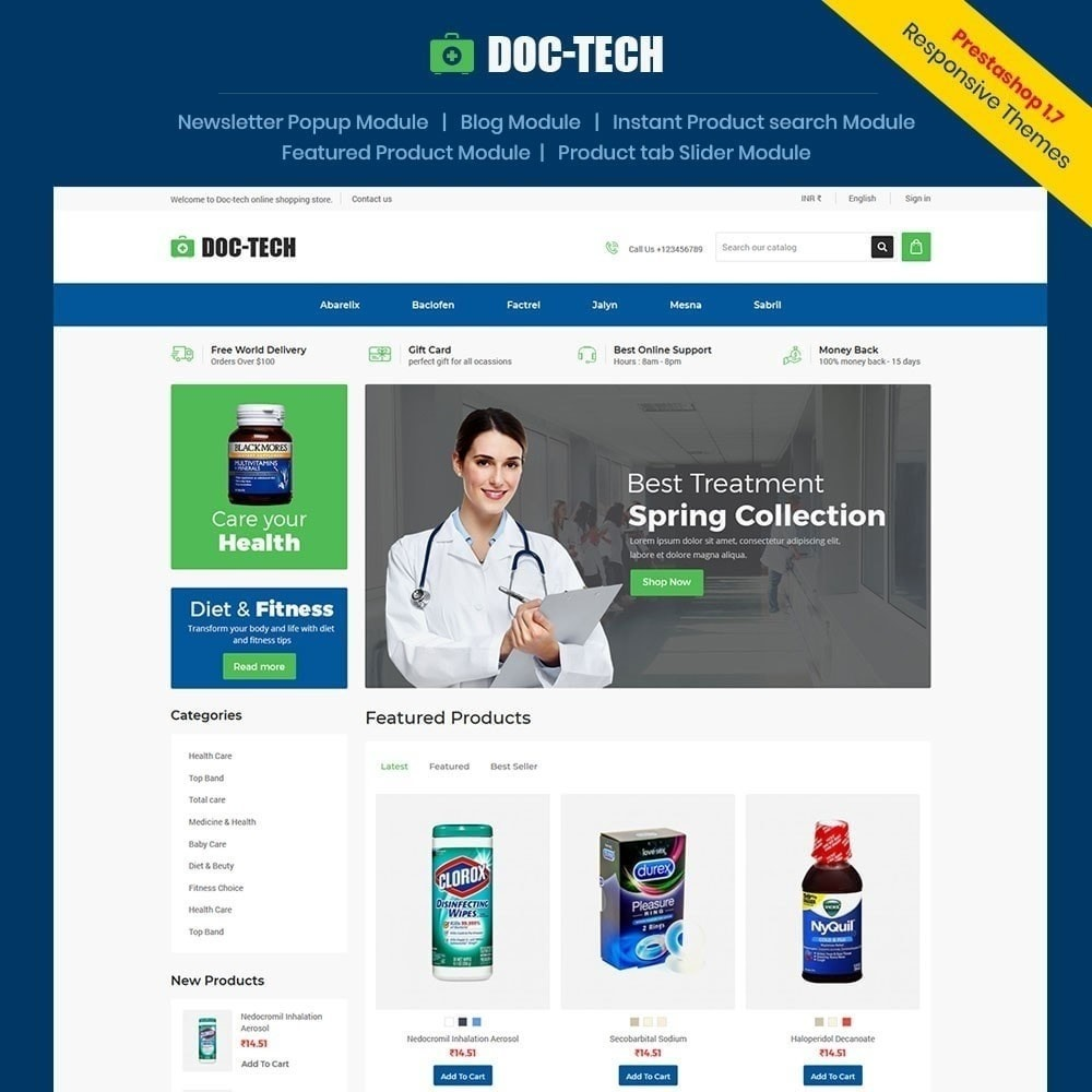 theme - Salud y Belleza - Doctech - Tienda médica - 1