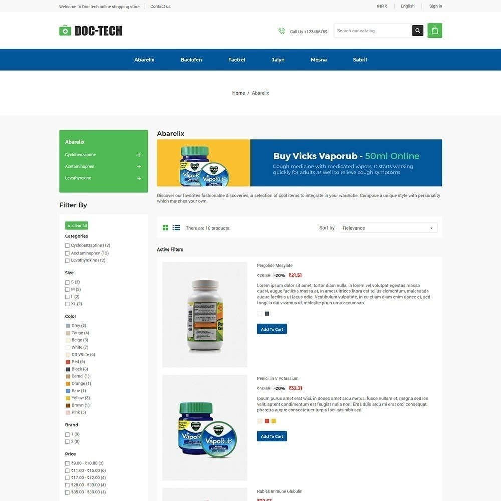 theme - Gezondheid & Schoonheid - Doctech - Medische winkel - 2