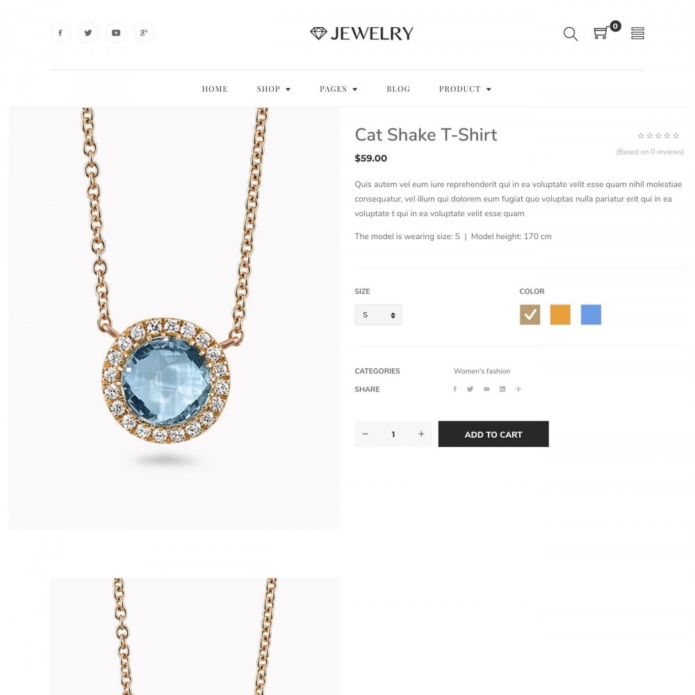Babi - Jewelry Store eCommerce Bootstrap 4 Template