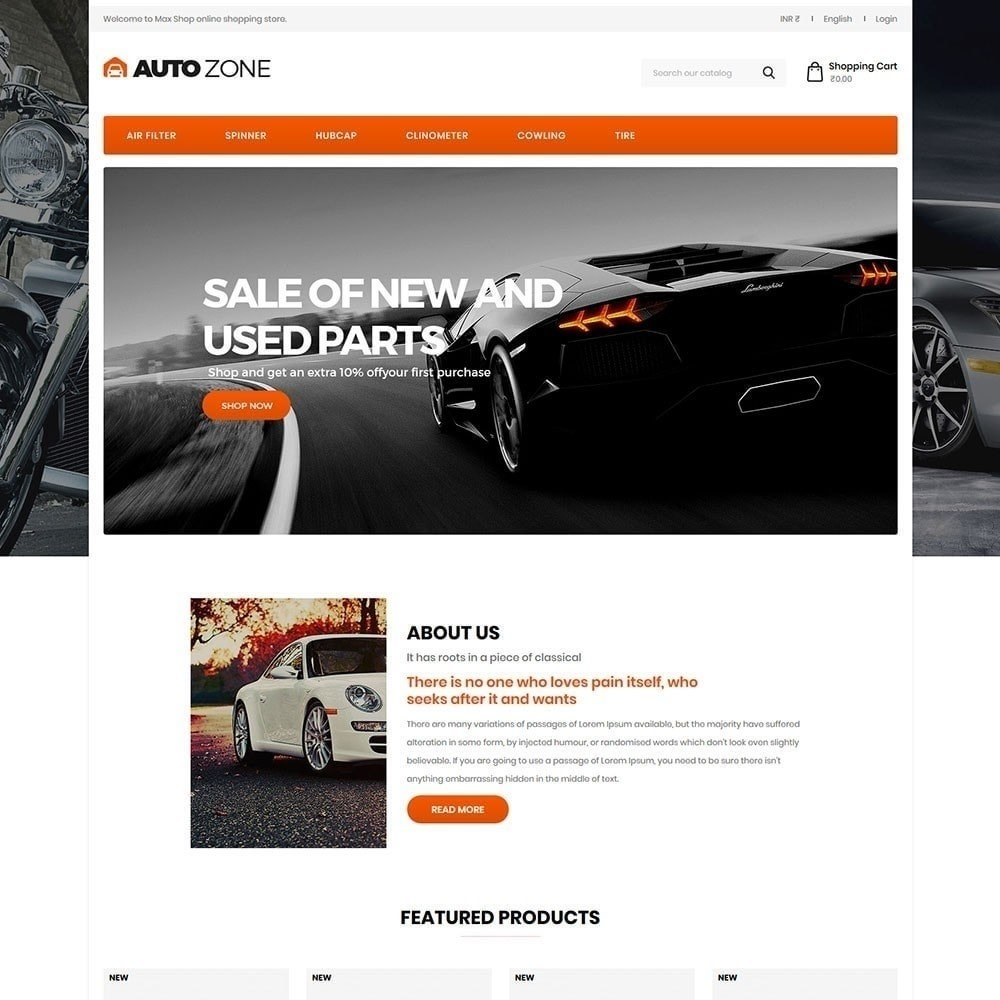theme - Coches y Motos - Autozone - Auto Store - 2
