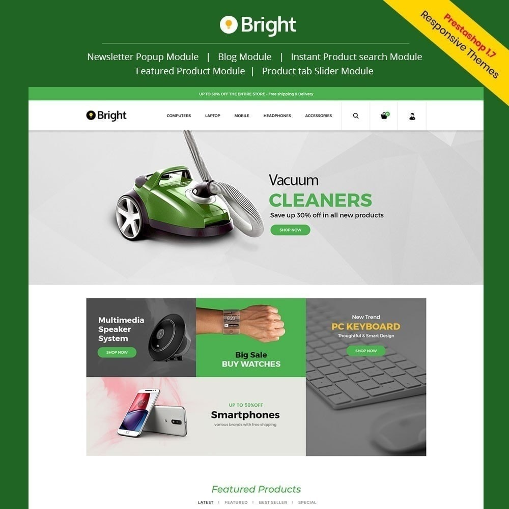 theme - Electronics & Computers - Bright Electronics Store - 1