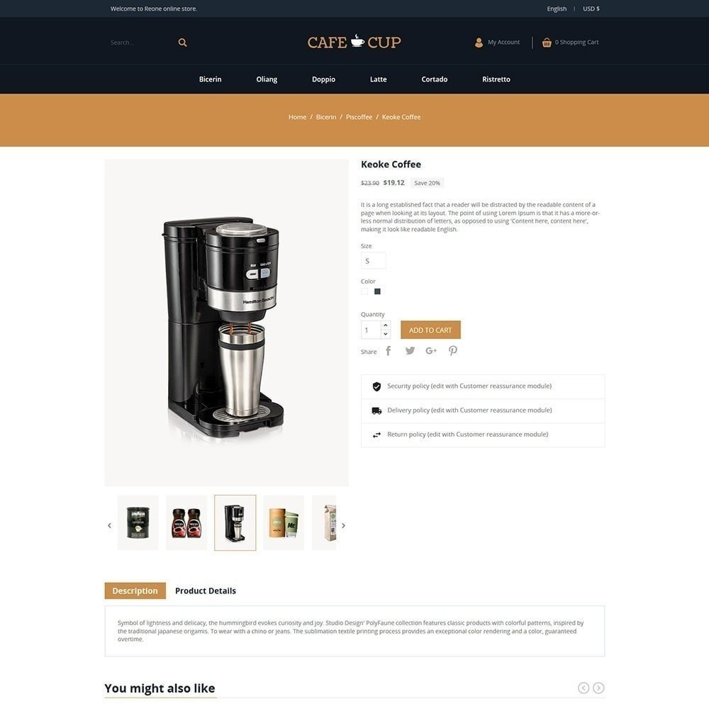 theme - Lebensmittel & Restaurants - Kaffeetasse - Coffee Store - 4