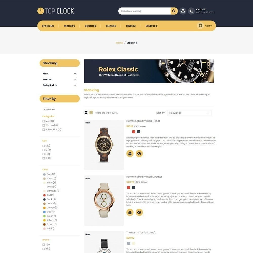 theme - Mode & Schoenen - Topklok - Watch Store - 4