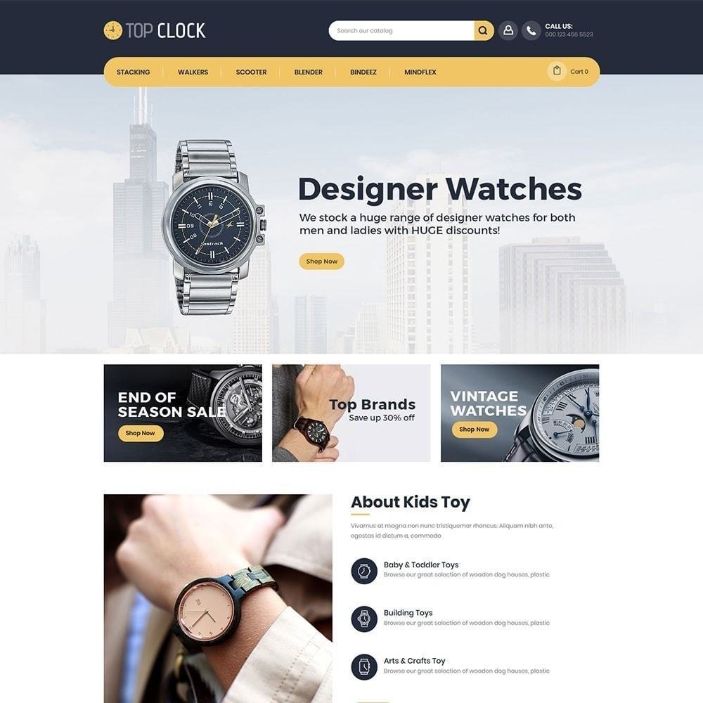 theme - Moda & Obuwie - Top Clock - Watch Store - 4