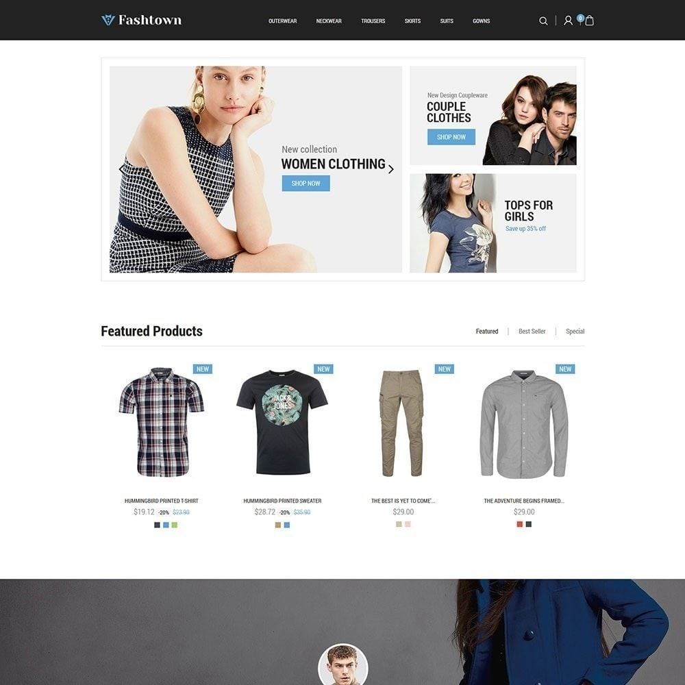 theme - Moda y Calzado - Fashtown - Tienda de moda - 2
