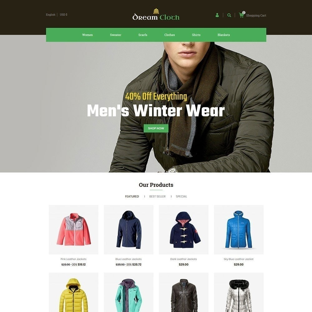 theme - Fashion & Shoes - Dream Cloth Store - 1