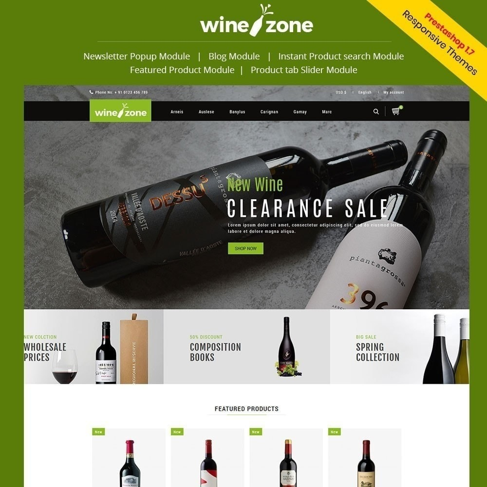 theme - Żywność & Restauracje - Winezone - Wine Store - 1