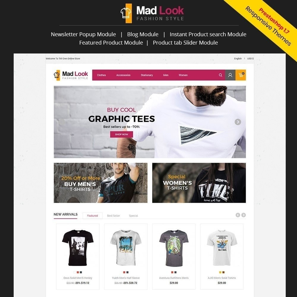 theme - Mode & Schuhe - Madlook Fashion Store - 1