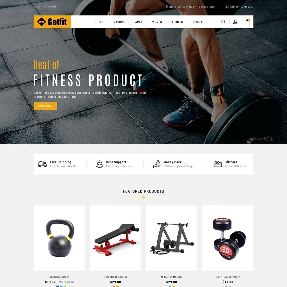 theme - Moda & Calçados - Get Fit Gym Store - 3