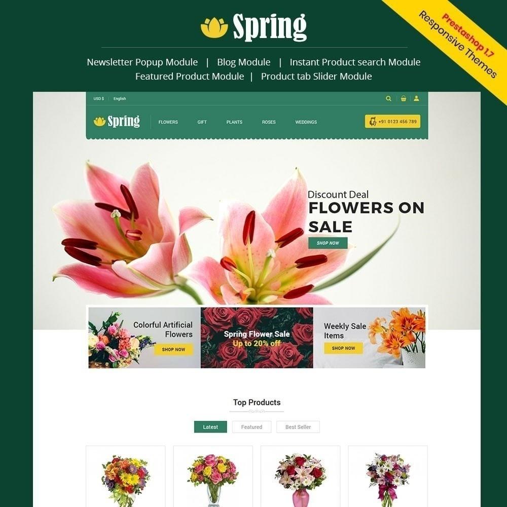 theme - Food & Restaurant - Spring Flower Store - 1