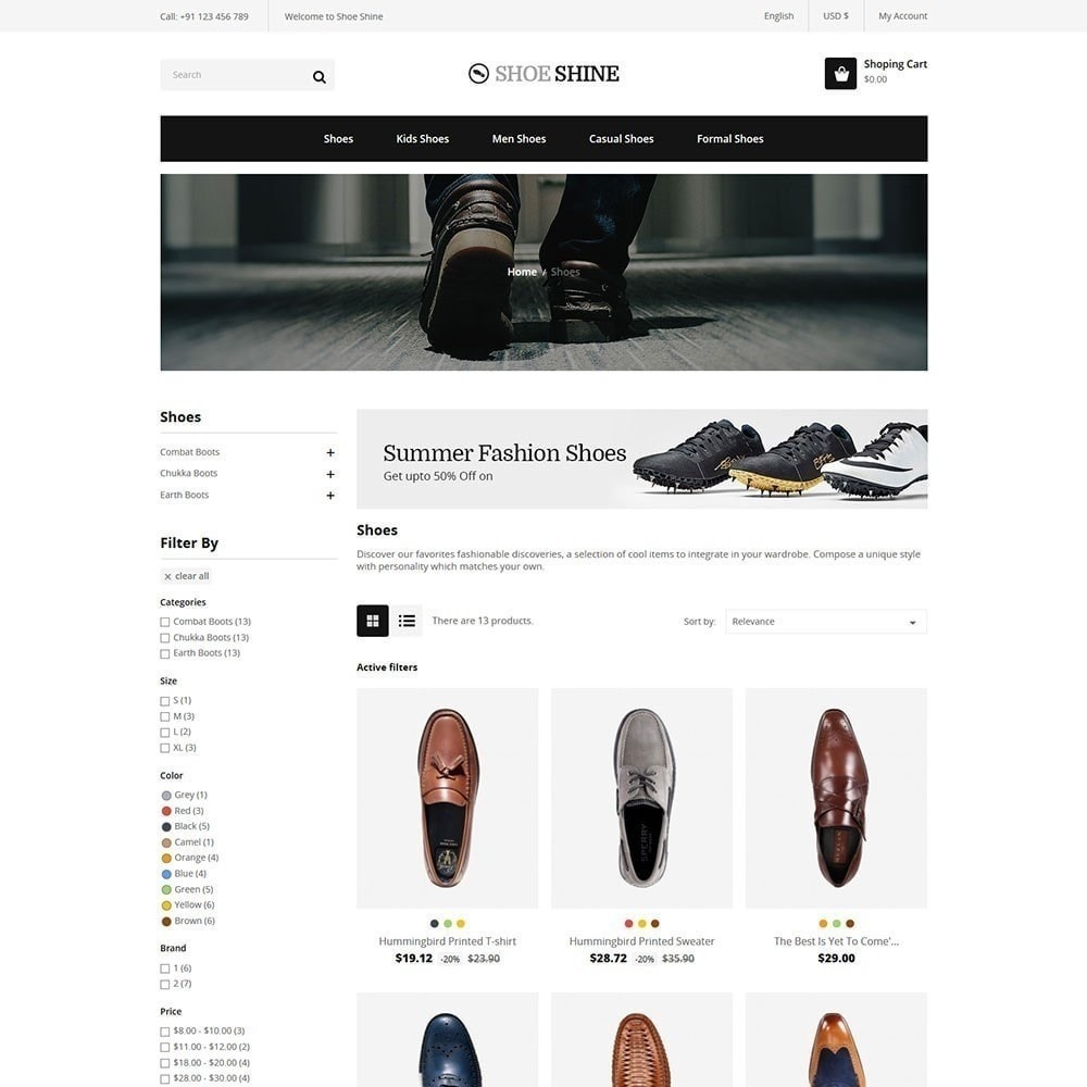 theme - Fashion & Shoes - Shoe Shine Fashion Store - 3