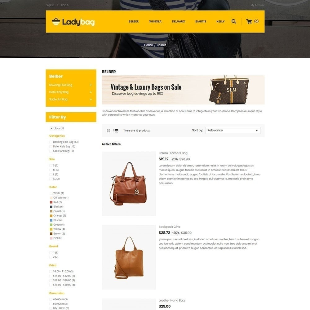 theme - Moda & Calzature - Ladybag Bag Store - 2