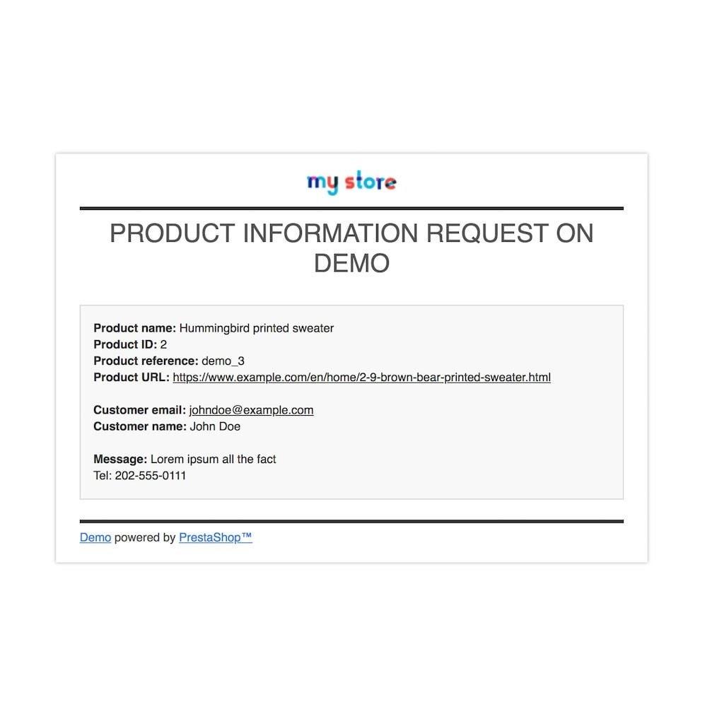 module - Altre informazioni & Product Tab - Richiedi informazioni prodotto - 5