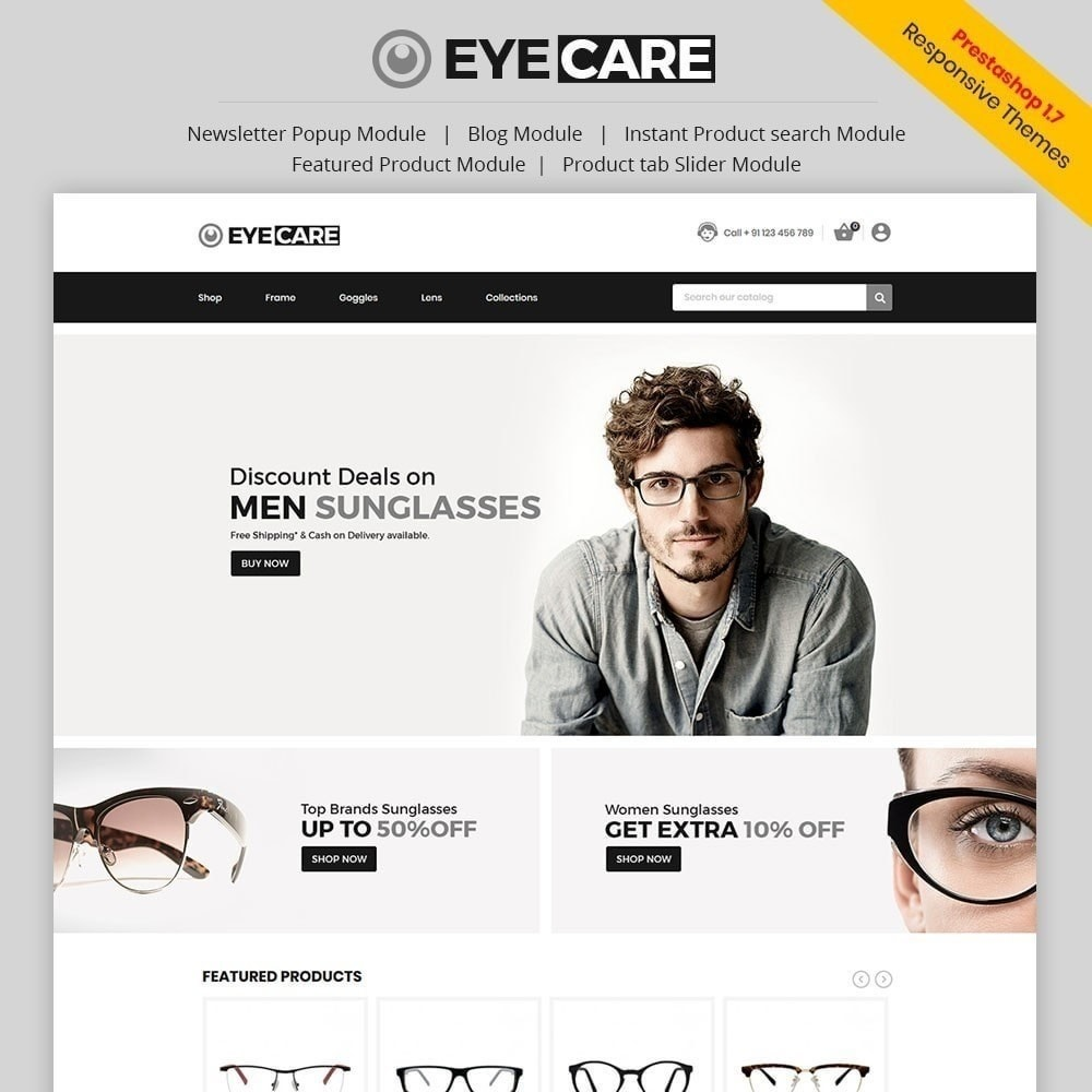 theme - Mode & Chaussures - Eyecare - Magasin de mode - 1