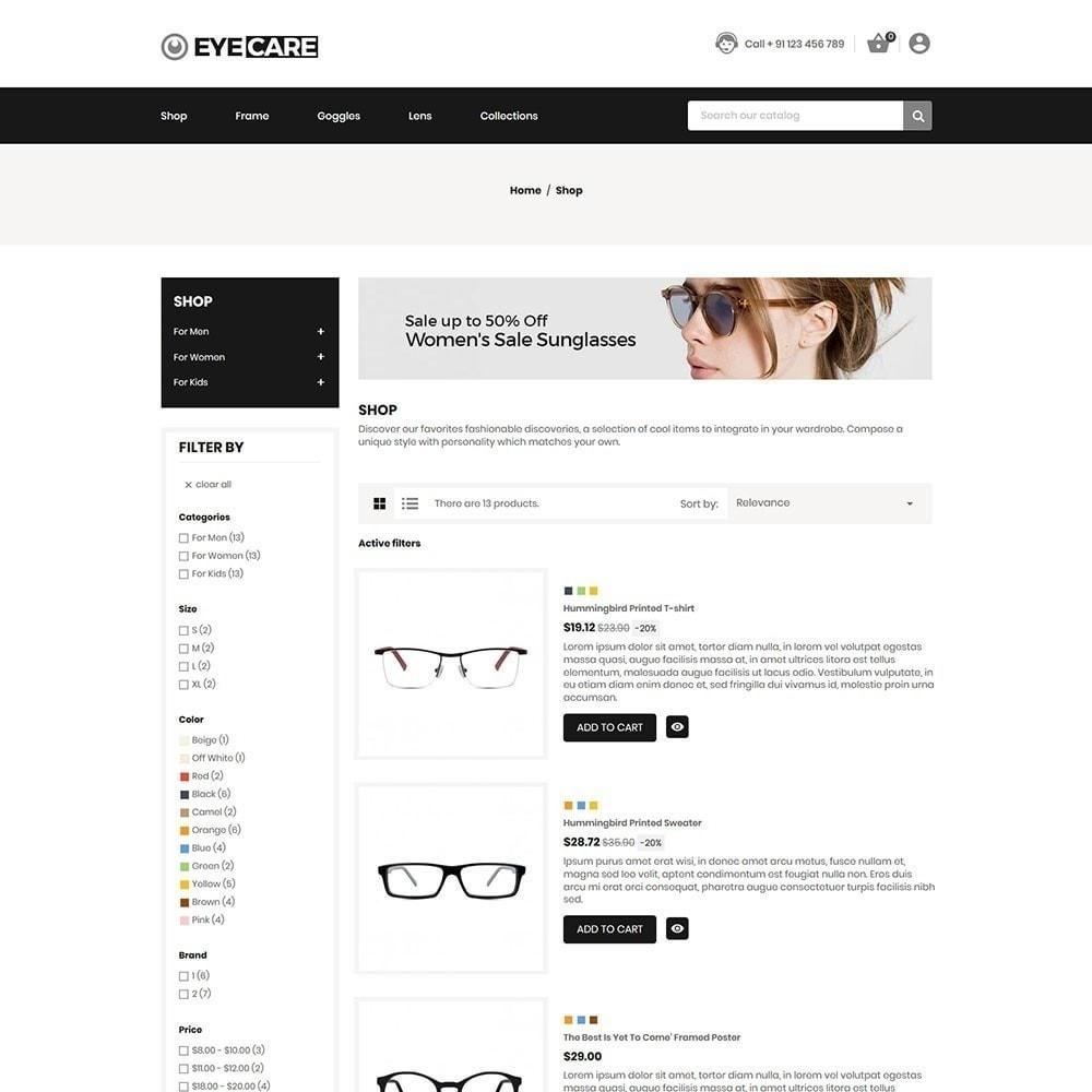 theme - Мода и обувь - Eyecare - Модный магазин - 2