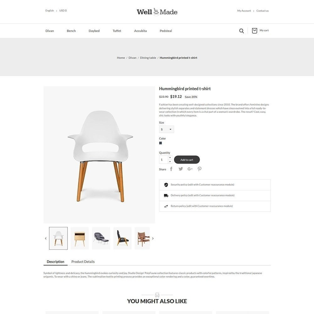 theme - Fashion & Shoes - Wellmade Light Furniture Store - 3
