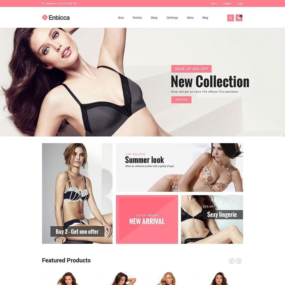 theme - Lingerie & Adult - Entica - Fashion Lingerie Store - 2