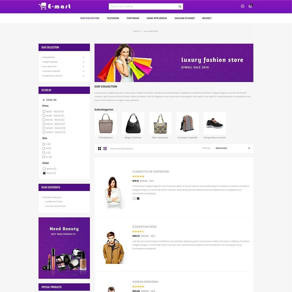 theme - Fashion & Shoes - Emart - The Mega Store - 5