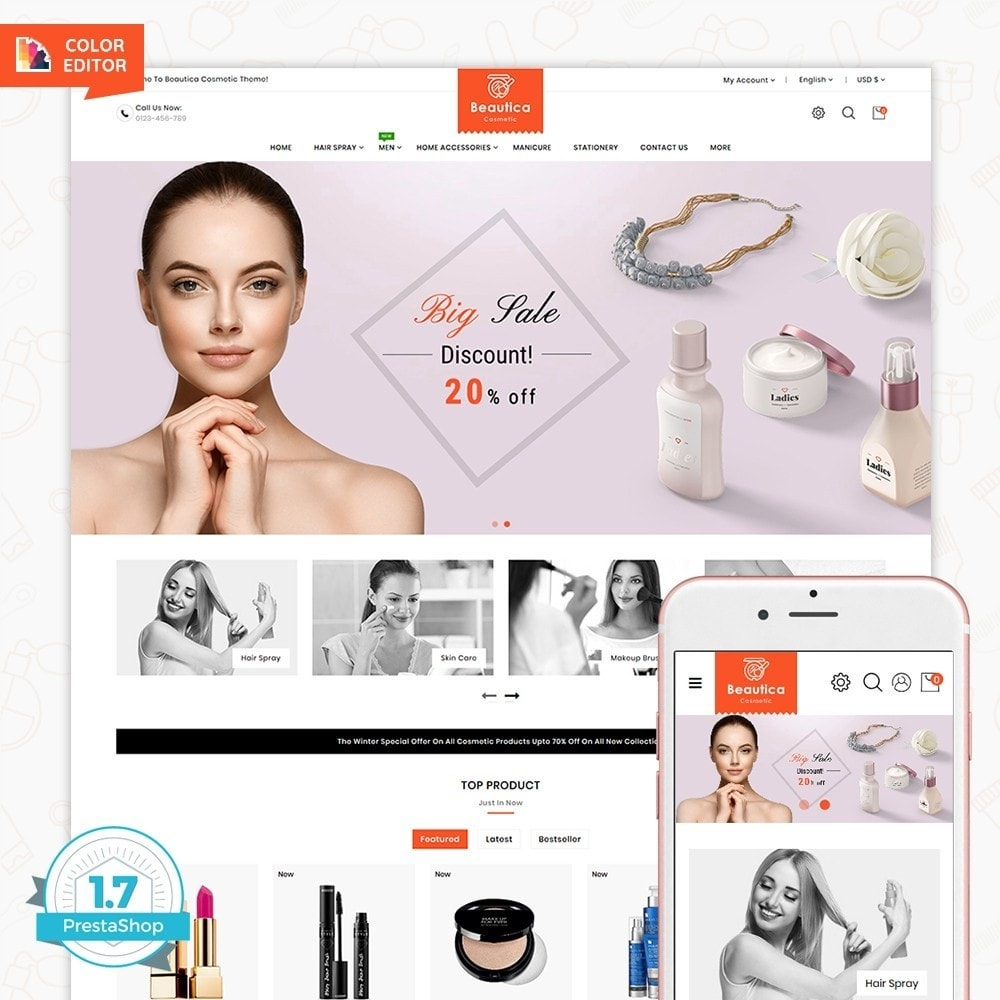 theme - Health & Beauty - Beautica - The Cosmetic Store - 1