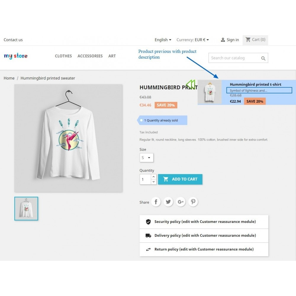 module - Outils de navigation - Navigation Previous & Next Arrow On Product Page - 14