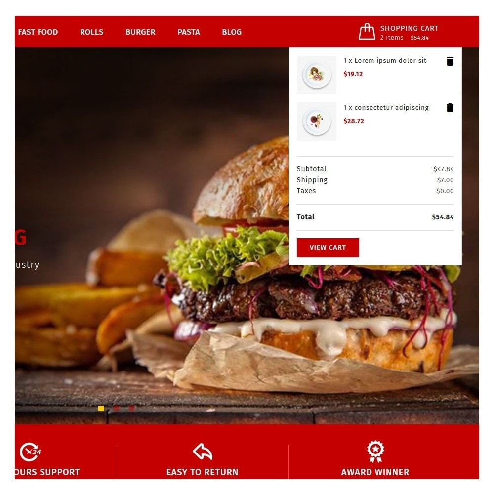 theme - Food & Restaurant - Maxicans Food - 7