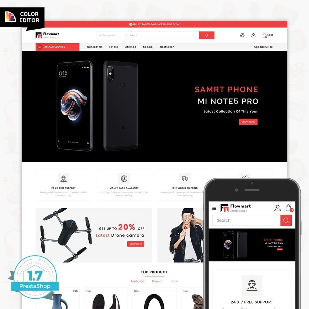 theme - Electronique & High Tech - FlowMart - The Multistore Template - 1