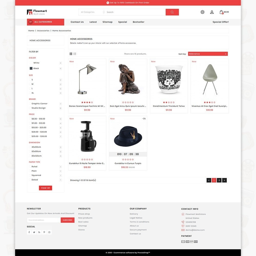 theme - Electronique & High Tech - FlowMart - The Multistore Template - 3