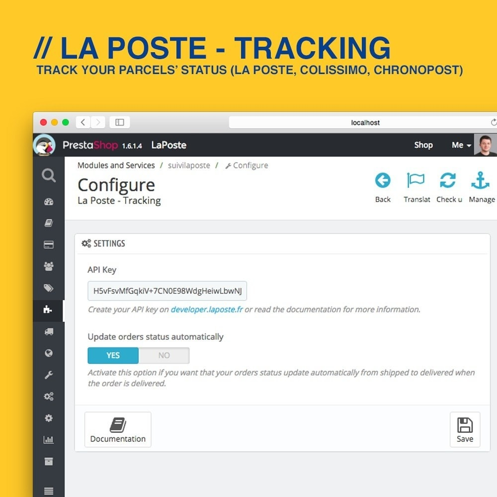 module - Delivery Tracking - La Poste, Colissimo & Chronopost tracking - 2