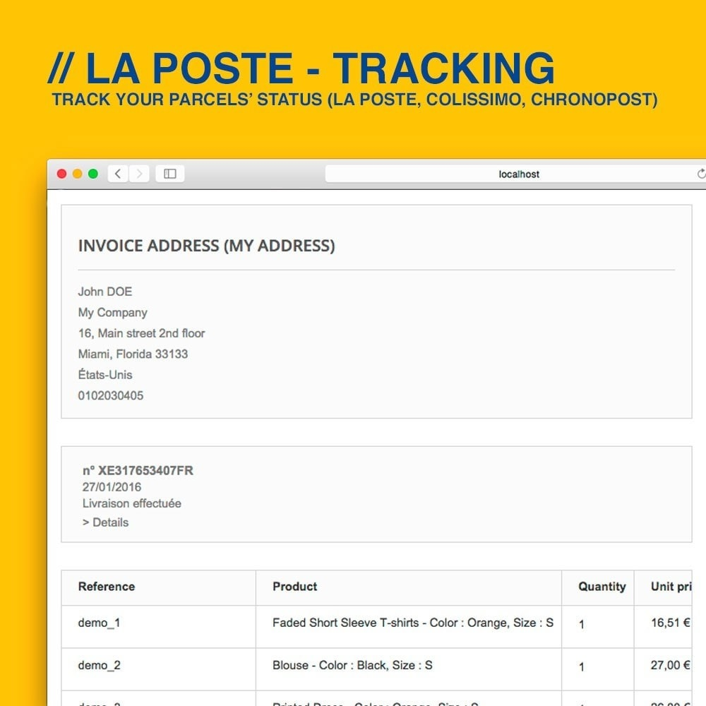 module - Delivery Tracking - La Poste, Colissimo & Chronopost tracking - 4