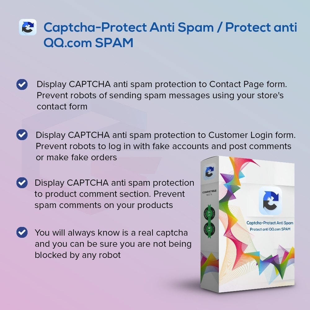 module - Seguridad y Accesos - Captcha-Protect Anti Spam / Protect anti QQ.com SPAM - 1