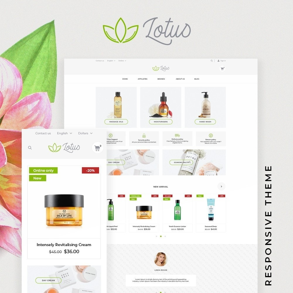 theme - Health & Beauty - Lotus Cosmetics - 1