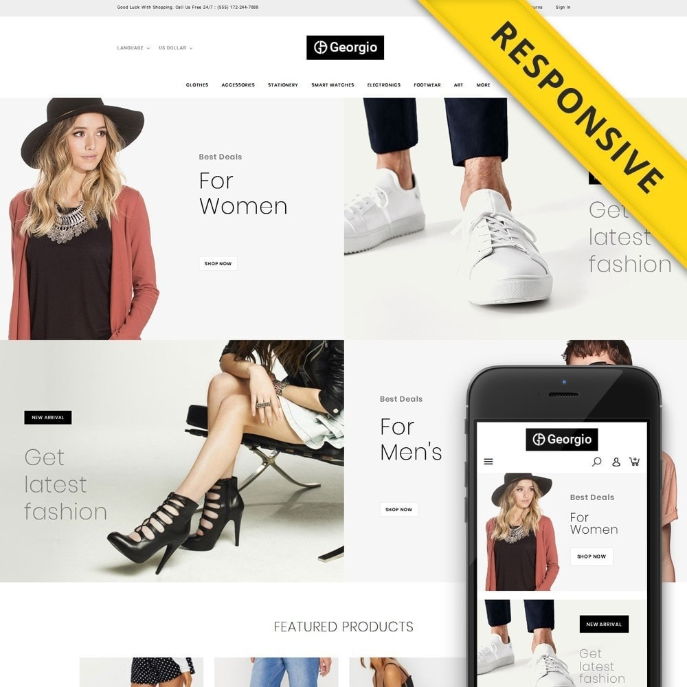 theme - Fashion & Shoes - Georgio - Fashion Store - 1