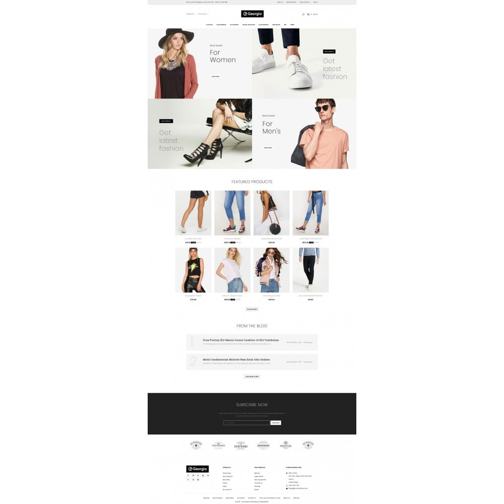theme - Fashion & Shoes - Georgio - Fashion Store - 2