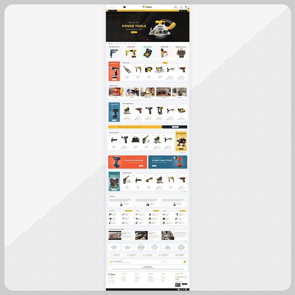 theme - Automotive & Cars - Toloan Outils– The Big Tools Big Store - 2