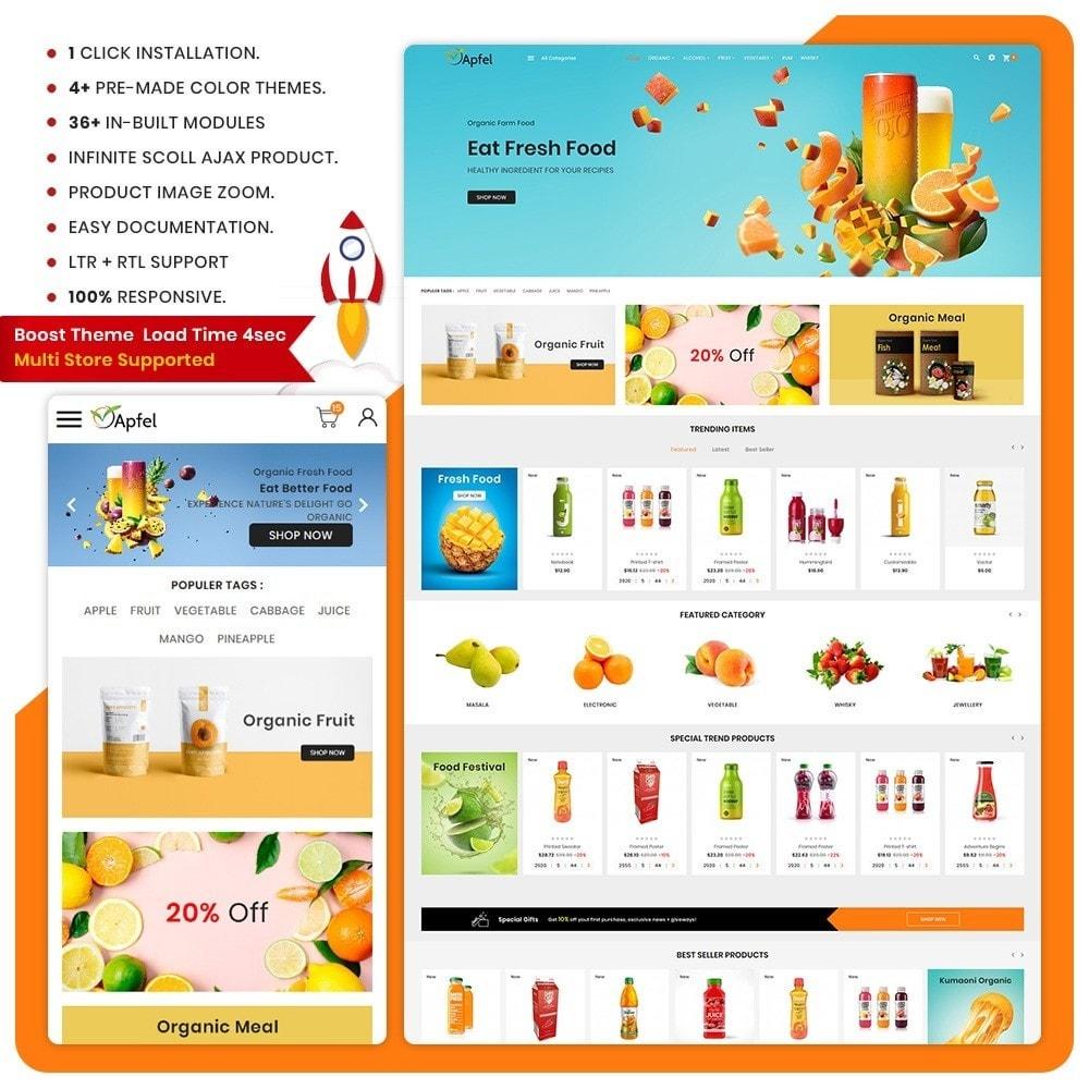 theme - Casa & Jardins - Aliments– The Organic Fresh Food - 1