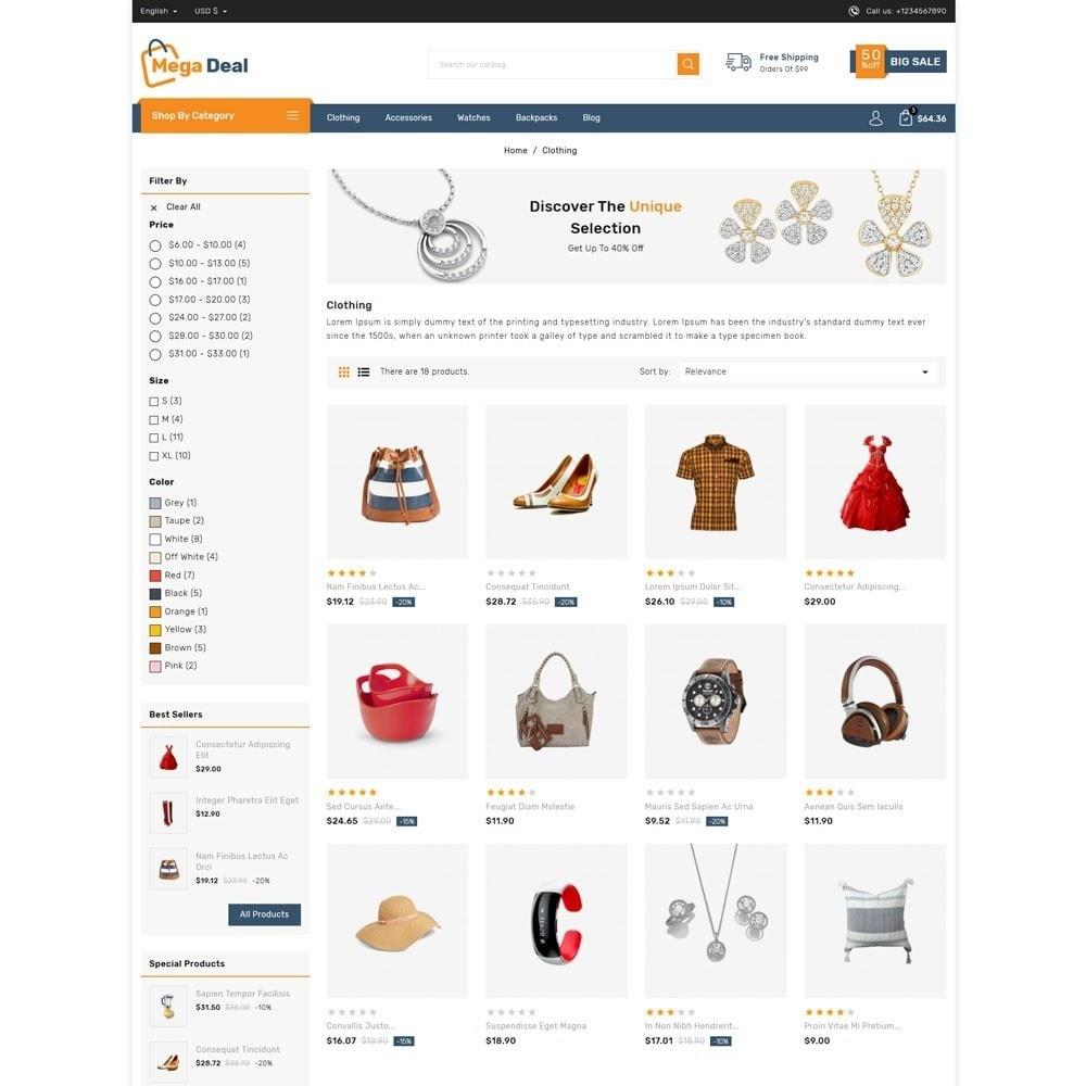 theme - Fashion & Shoes - Megadeal - Mega Store - 3