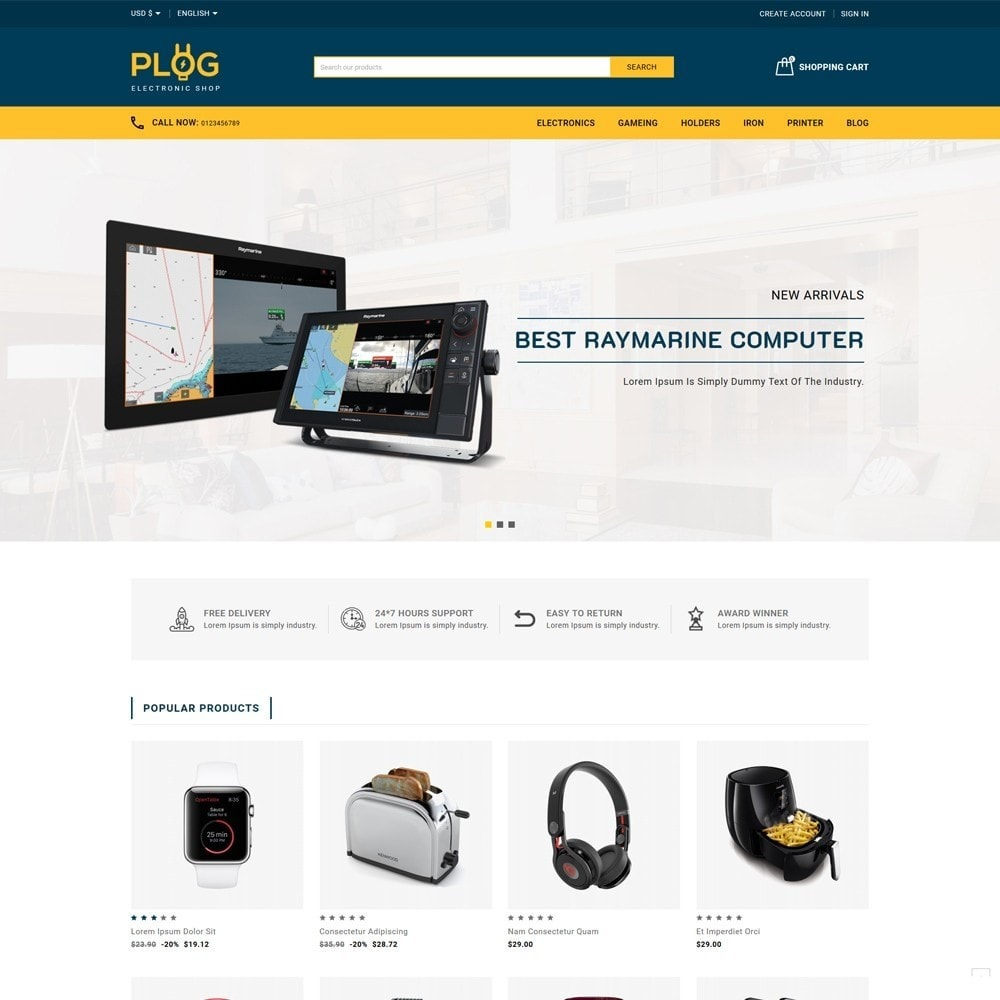 theme - Electronics & Computers - Plog Electronics Shop - 2