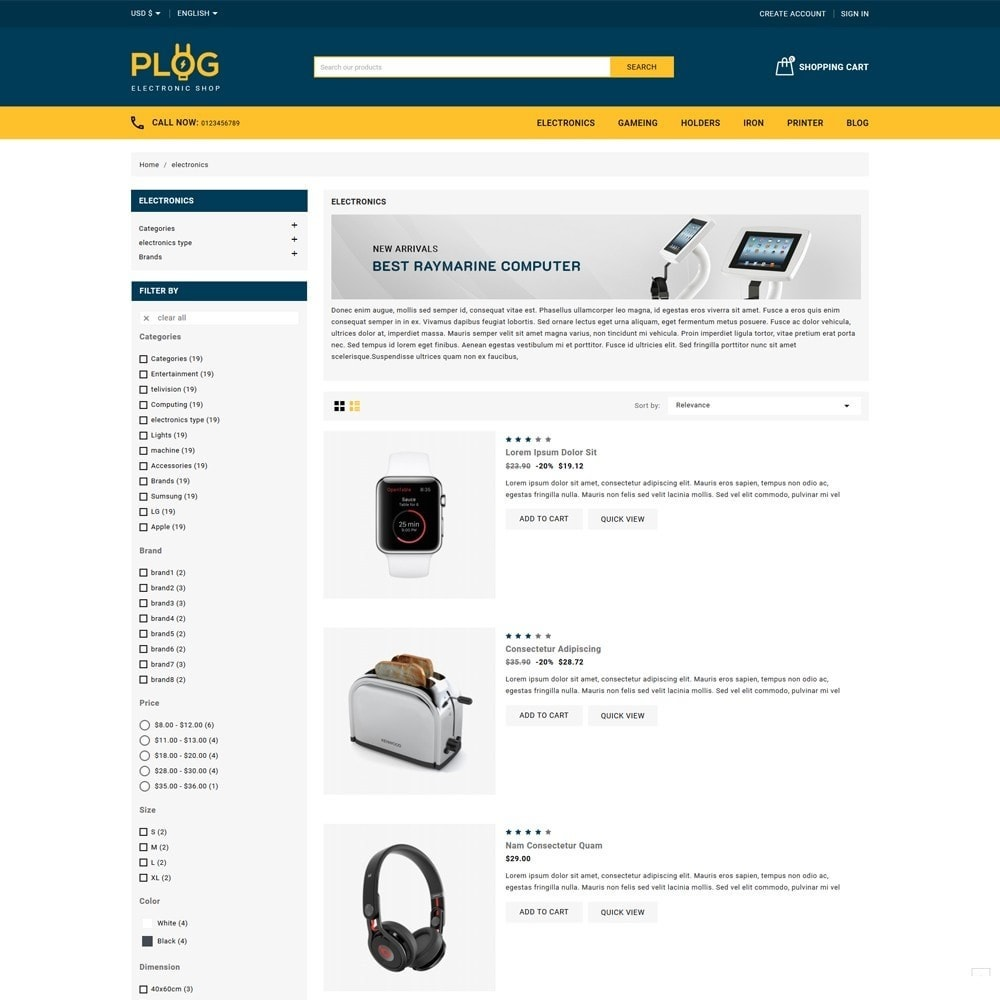 theme - Electronics & Computers - Plog Electronics Shop - 4