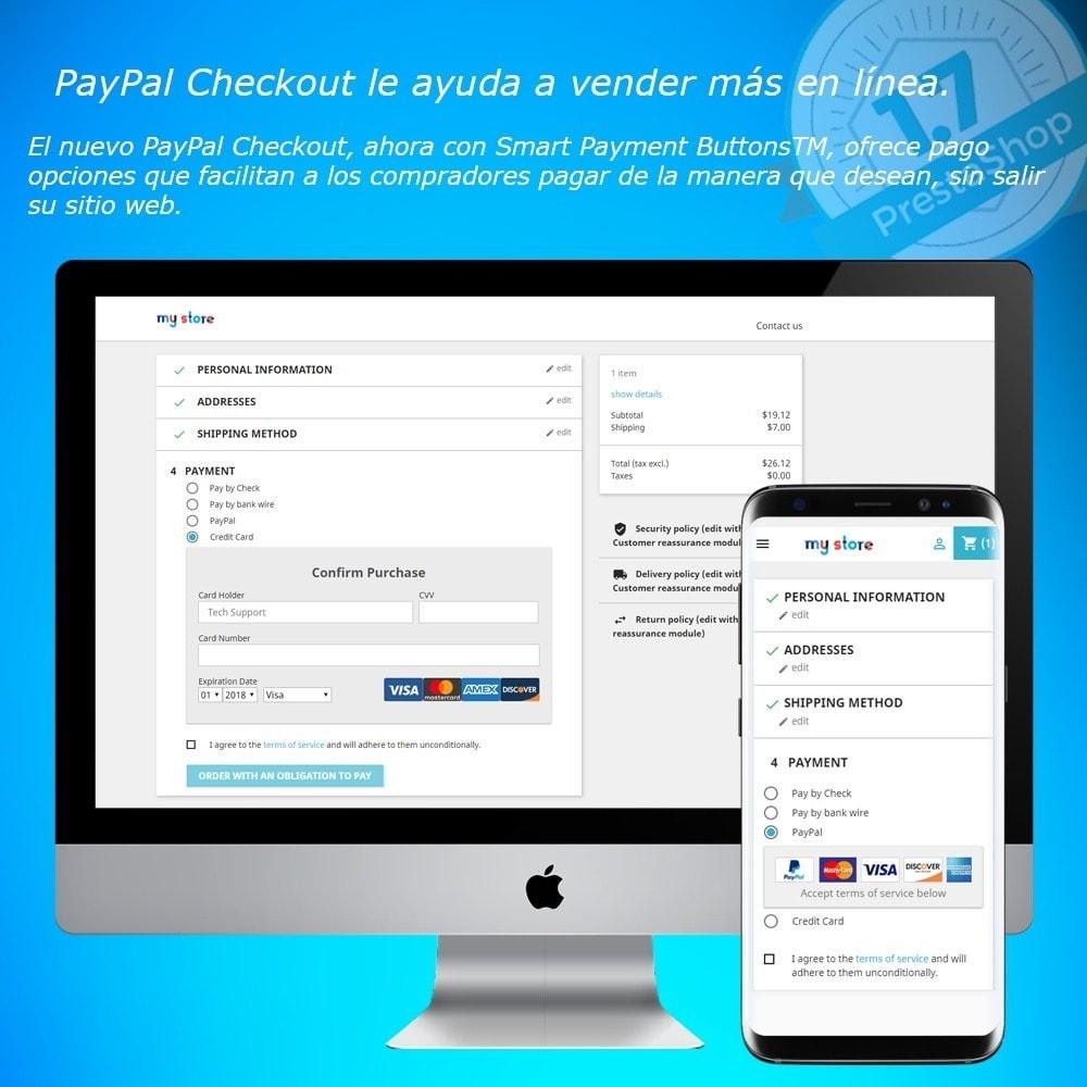module - Pago con Tarjeta o Carteras digitales - PayPal Express Checkout - 1