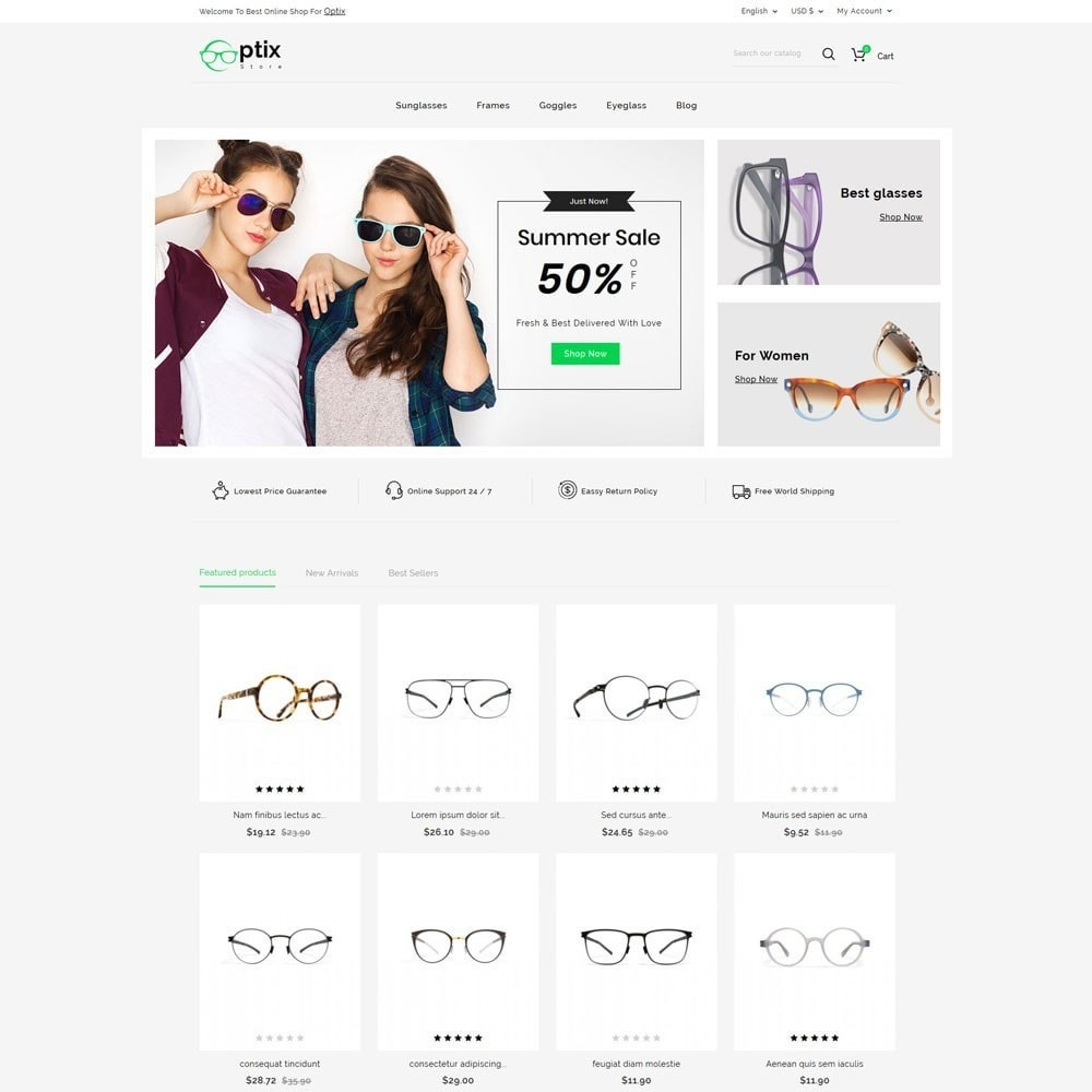 theme - Мода и обувь - Optix Optical Store - 2