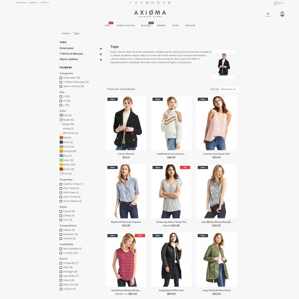 theme - Fashion & Shoes - Axioma Fashion Store - 6