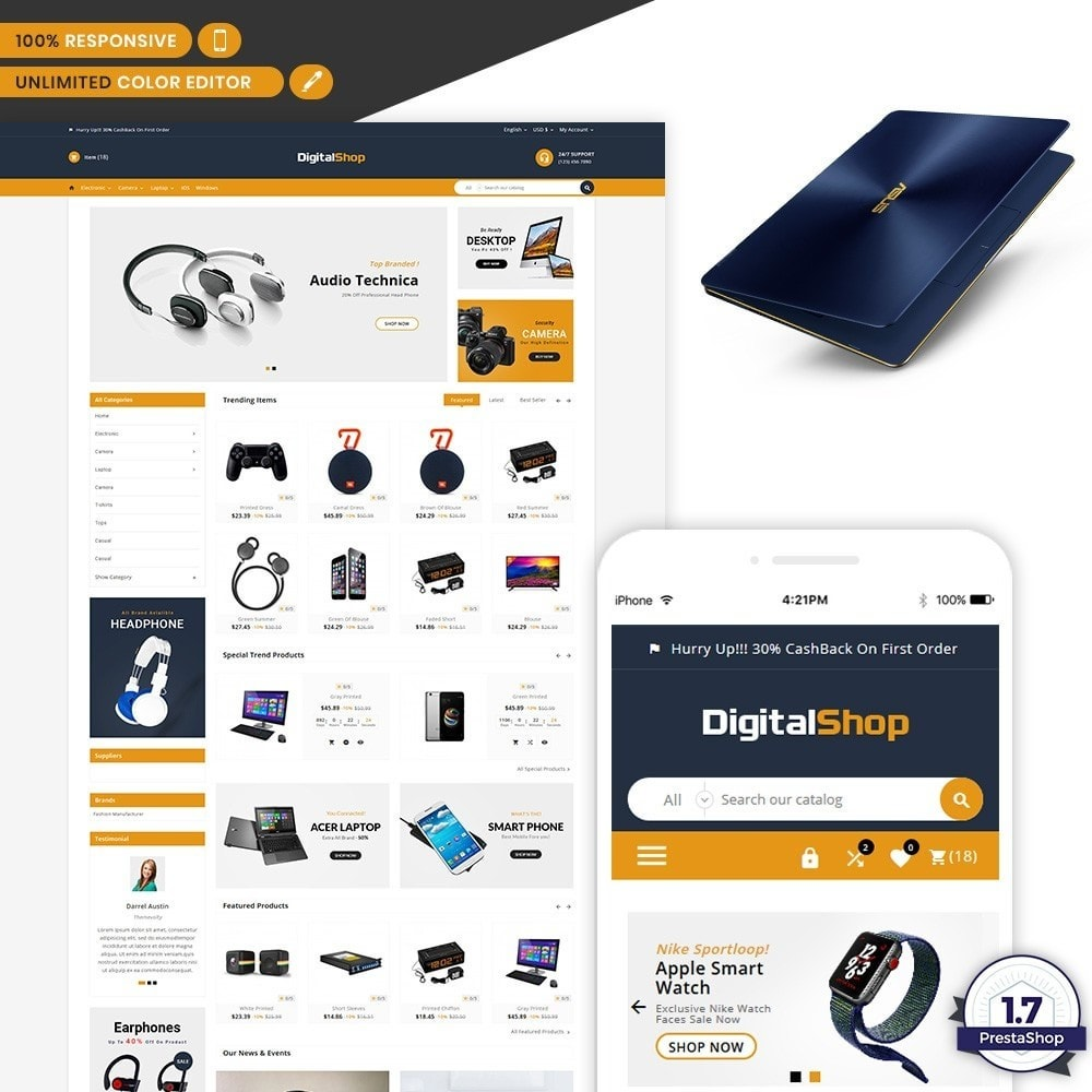 theme - Eletrônicos & High Tech - Digital Shop - Electronic Mega Mall - 1